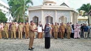 Kawal Netralitas ASN, Panwaslih Provinsi Aceh Turut Saksikan Ikrar di 6 Instansi Pemerintah